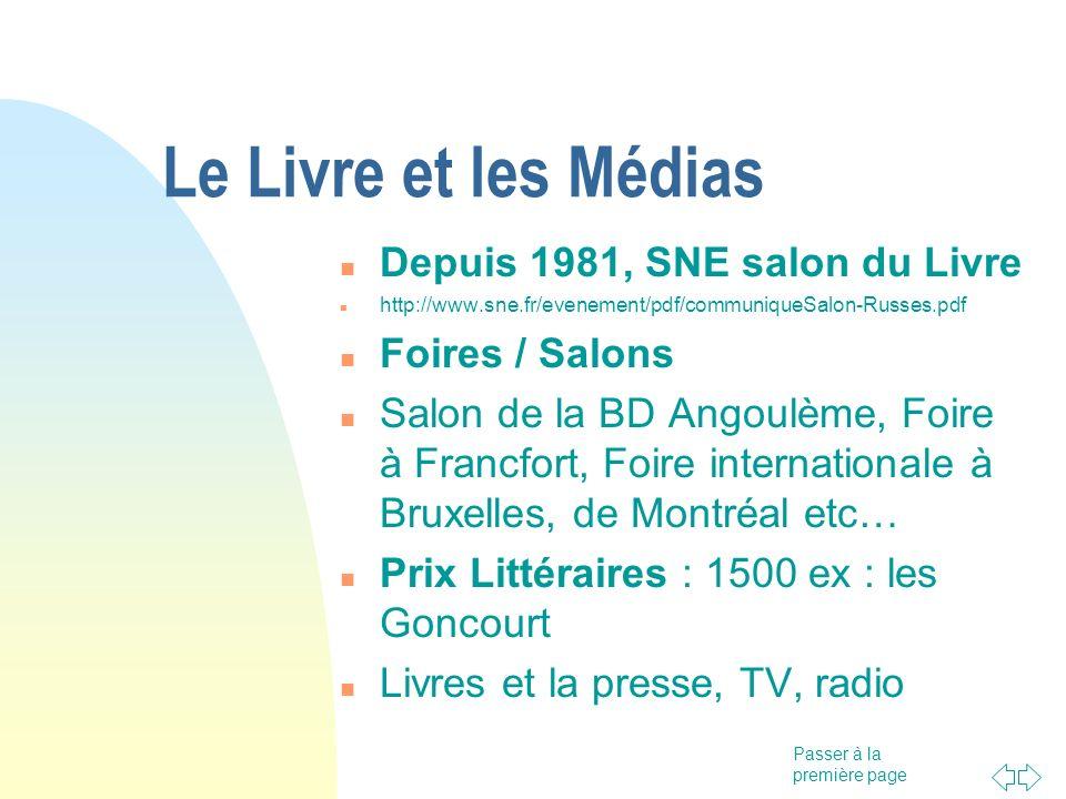 Le Livre et les Médias Depuis 1981, SNE salon du Livre Foires / Salons