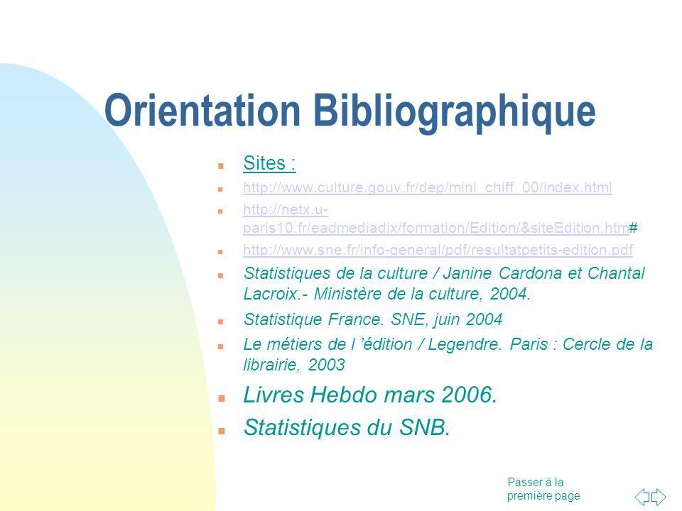 Orientation Bibliographique