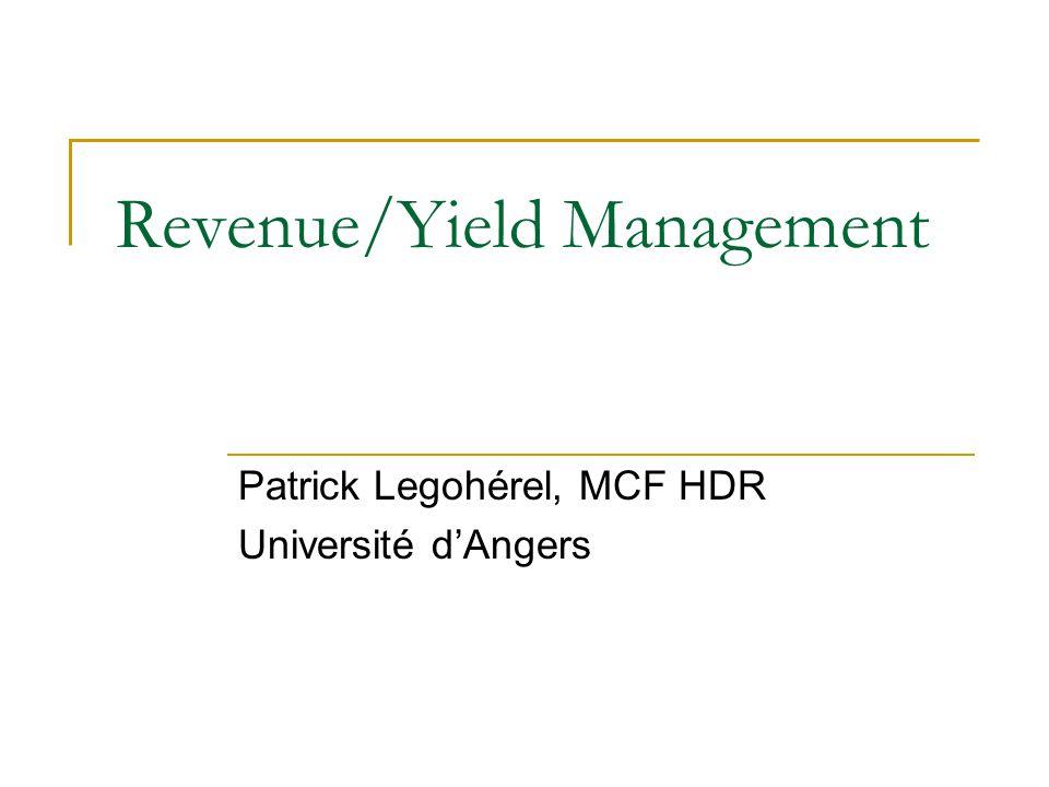 Revenue/Yield Management