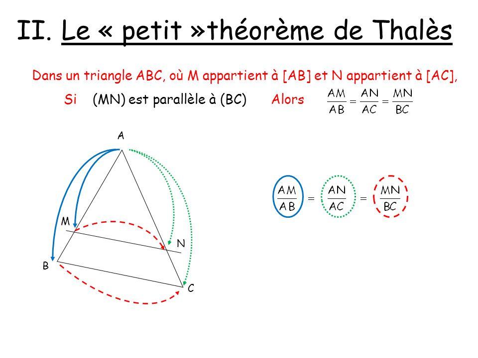Le « petit »théorème de Thalès