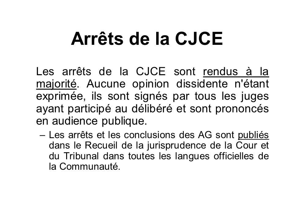 Arrêts de la CJCE