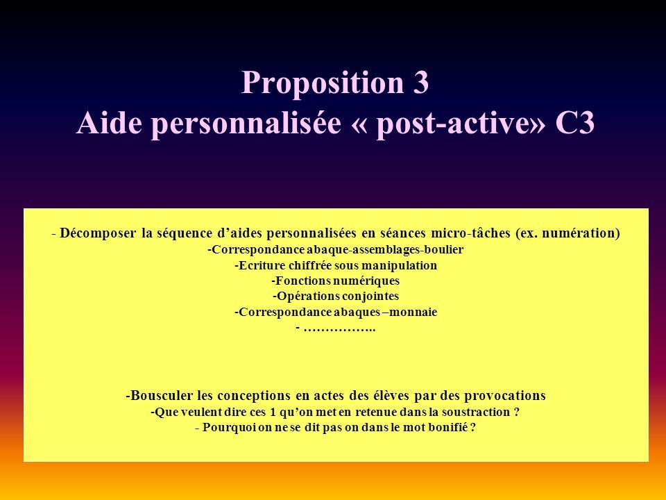 Proposition 3 Aide personnalisée « post-active» C3