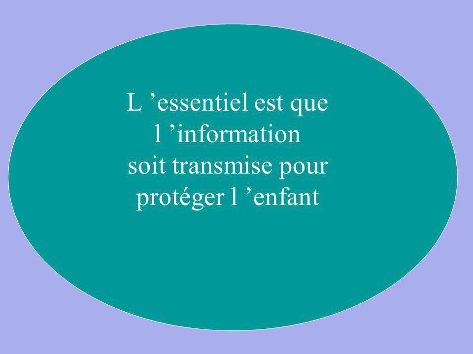 L 'essentiel est que l 'information