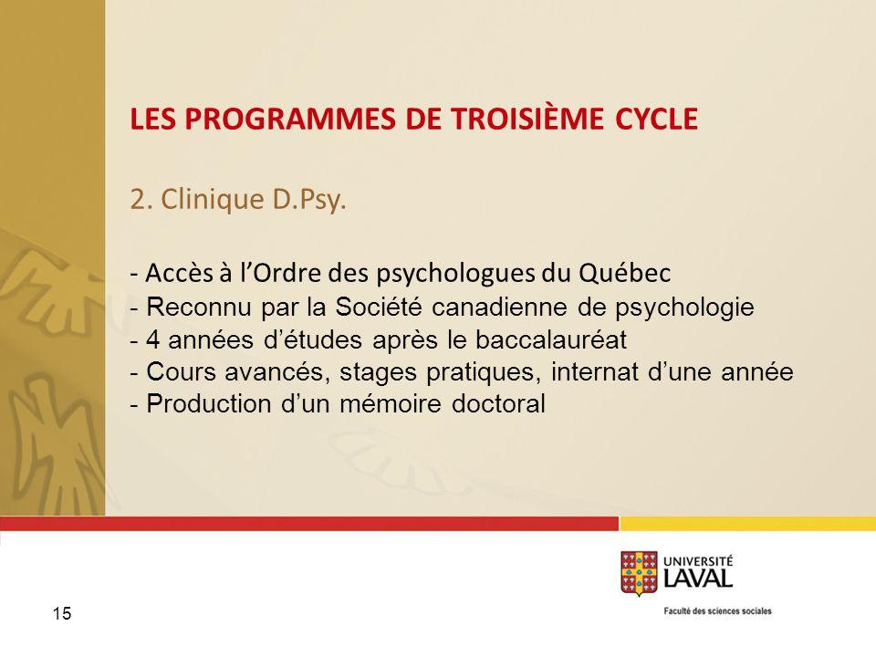 2. Clinique D.Psy. - Accès à l'Ordre des psychologues du Québec