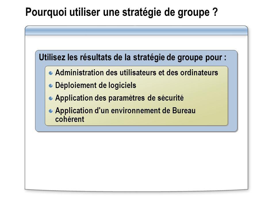 Pourquoi utiliser une stratégie de groupe