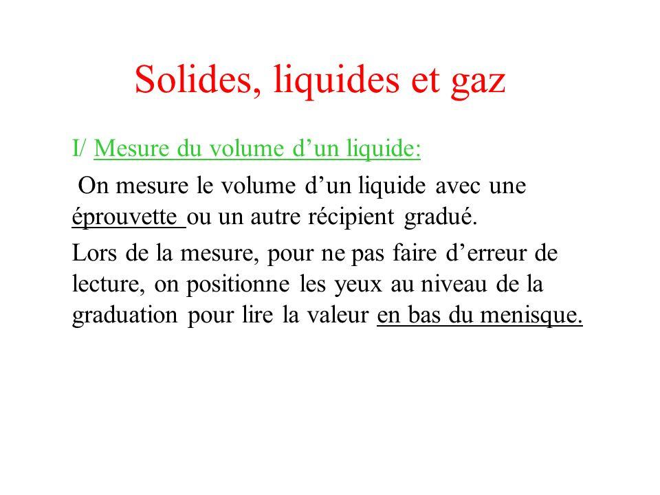 Solides, liquides et gaz