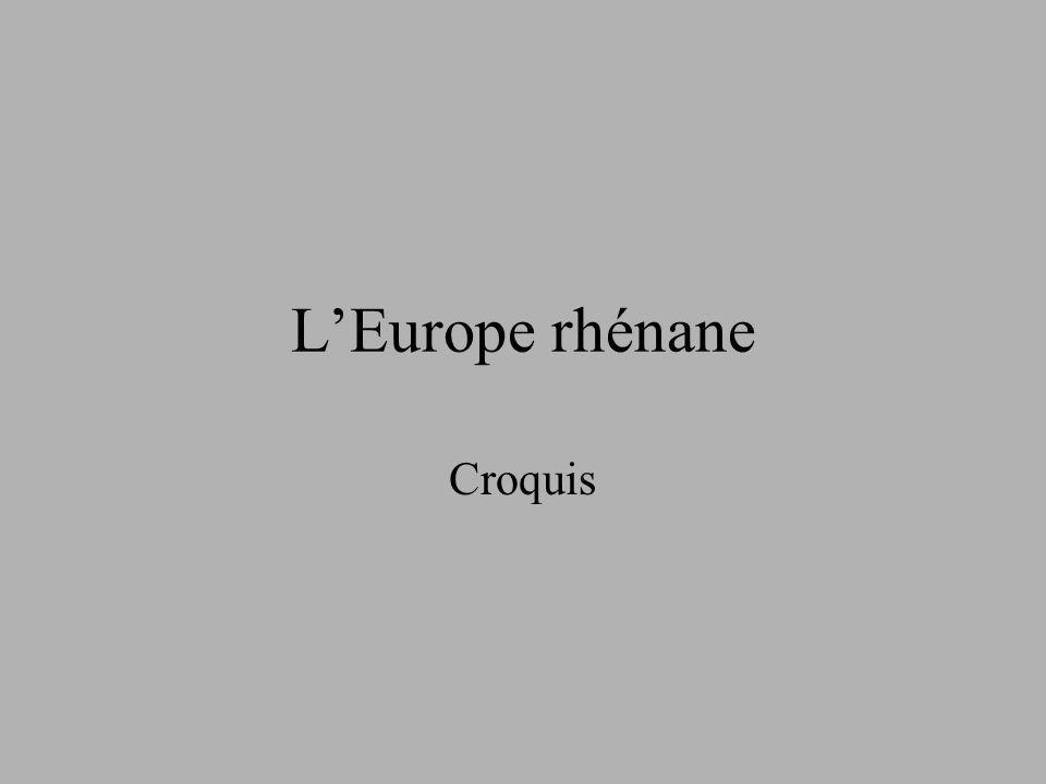 L'Europe rhénane Croquis