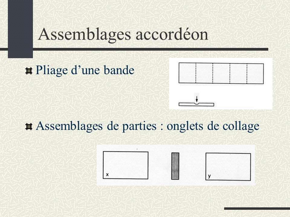 Assemblages accordéon