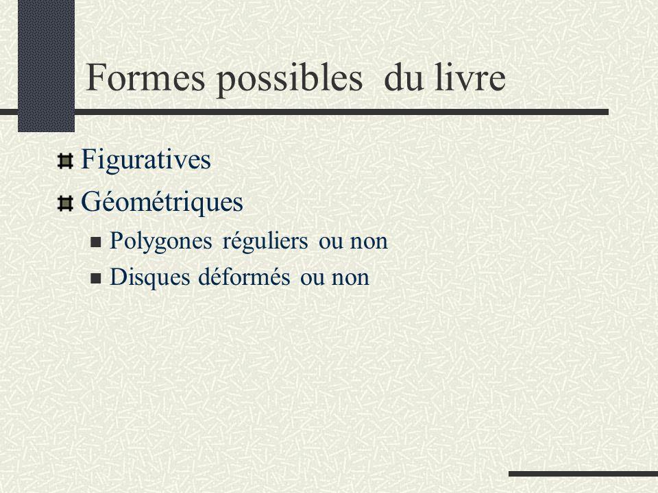 Formes possibles du livre
