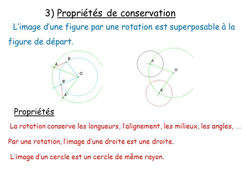 3) Propriétés de conservation