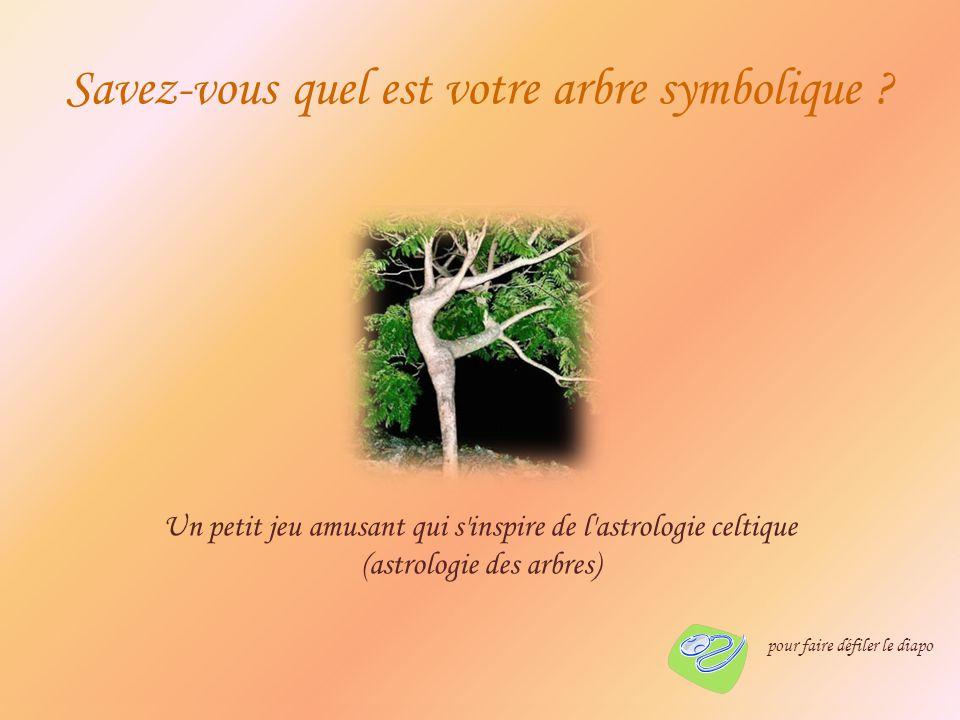 Savez-vous quel est votre arbre symbolique