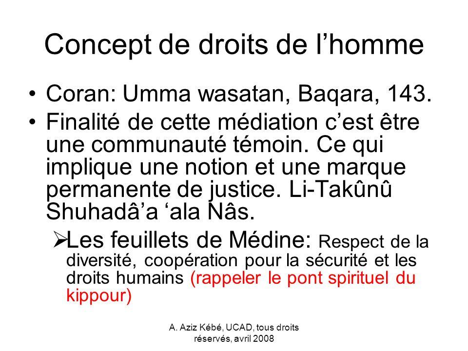 Concept de droits de l'homme