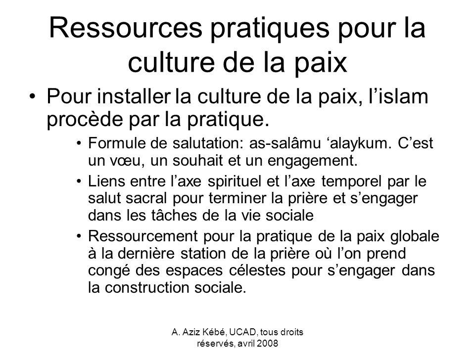 Ressources pratiques pour la culture de la paix
