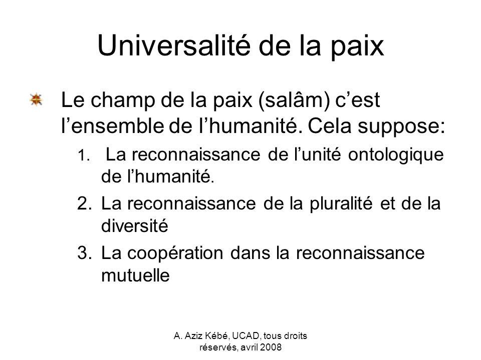 Universalité de la paix