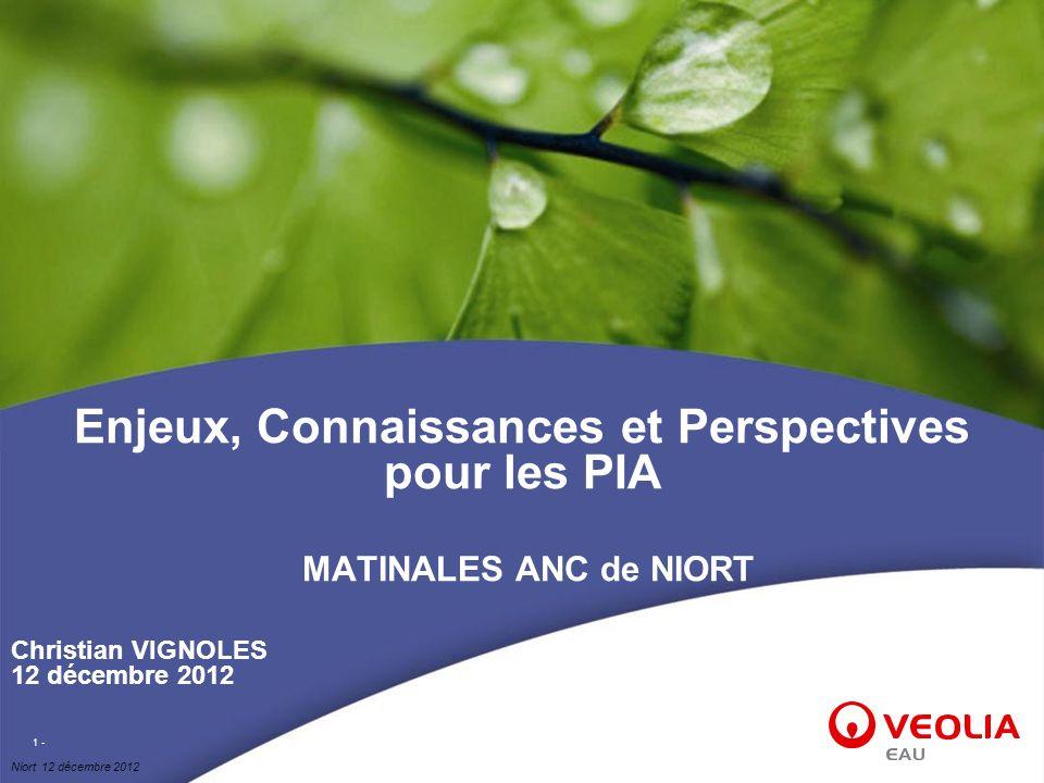 Enjeux, Connaissances et Perspectives pour les PIA MATINALES ANC de NIORT