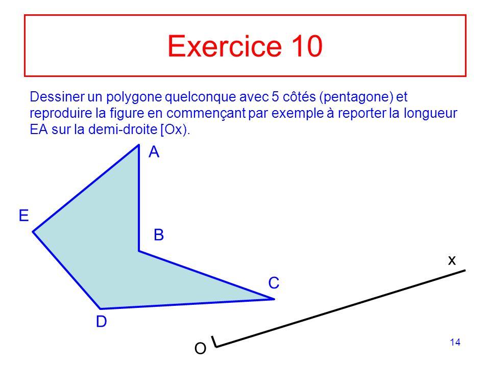Exercice 10
