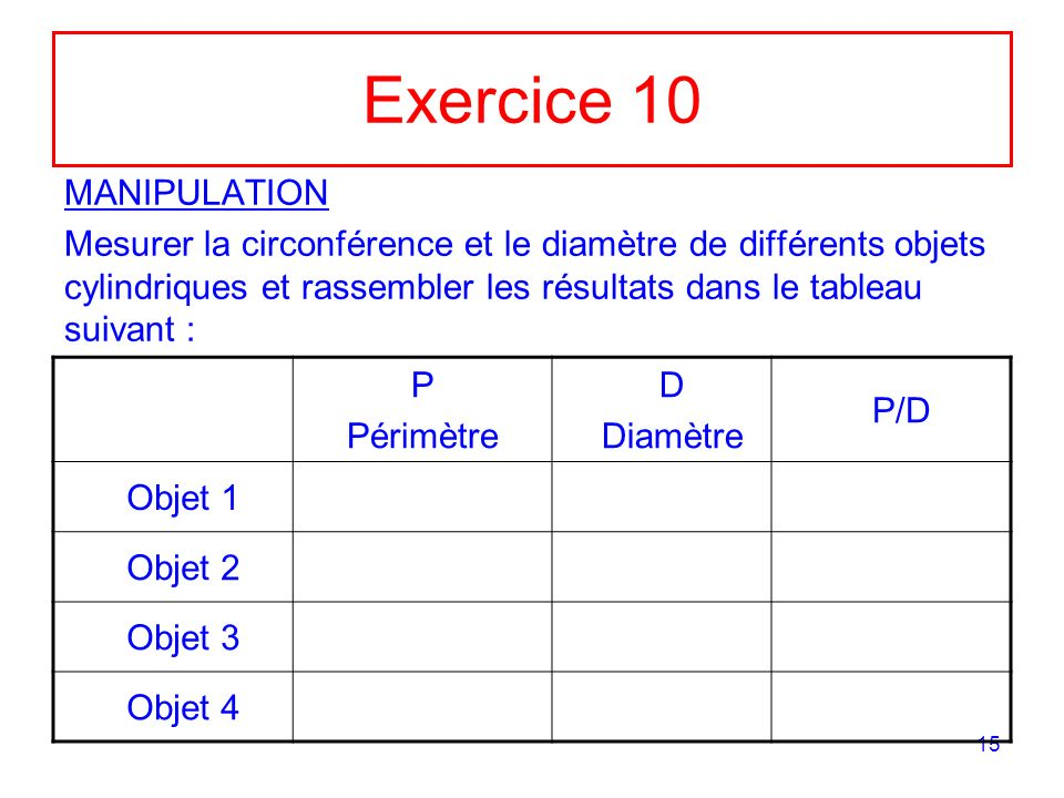 Exercice 10 MANIPULATION