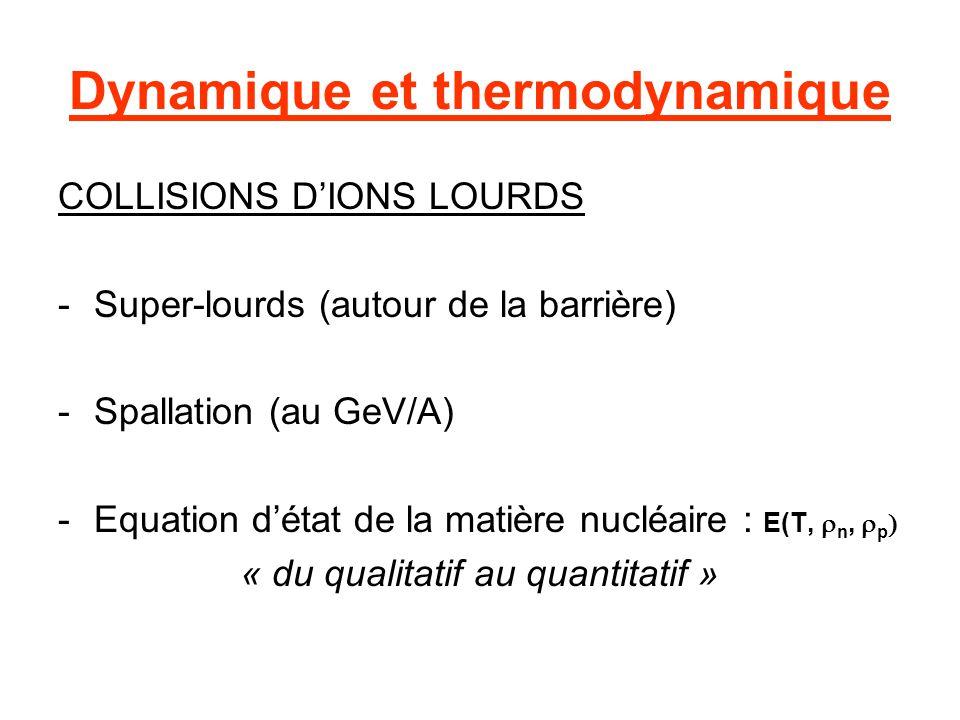 Dynamique et thermodynamique