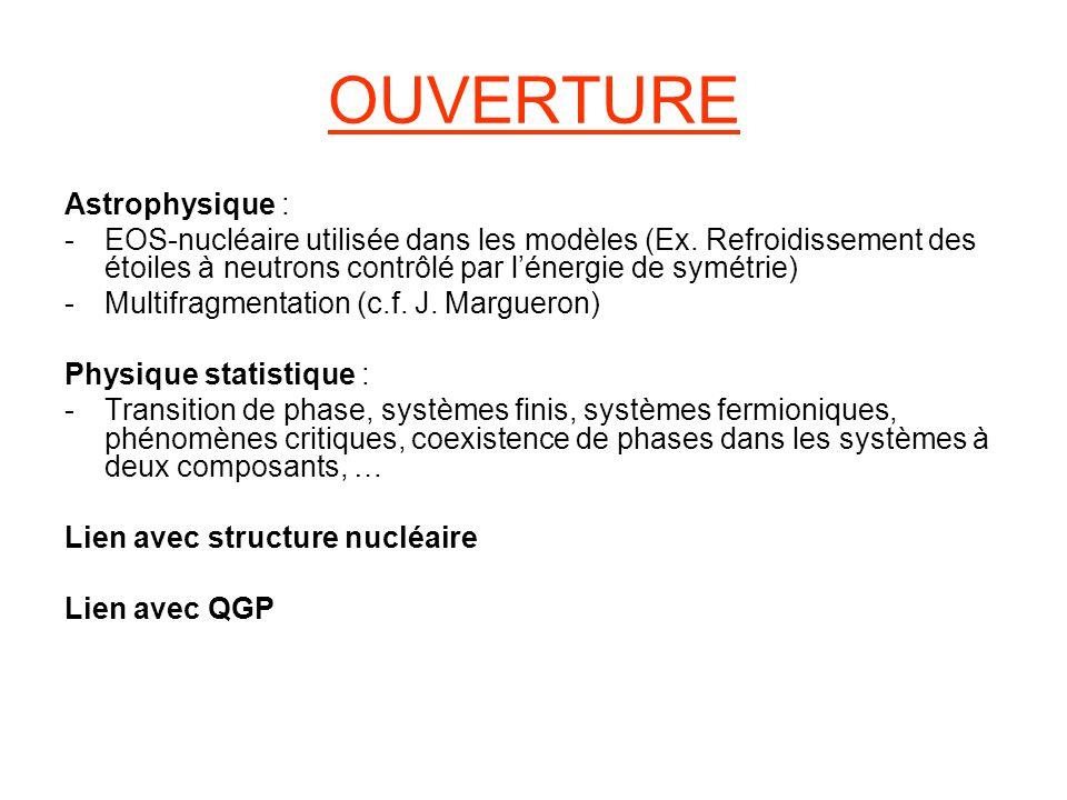 OUVERTURE Astrophysique :