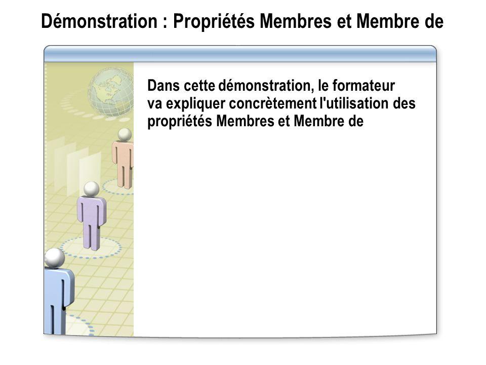 Démonstration : Propriétés Membres et Membre de