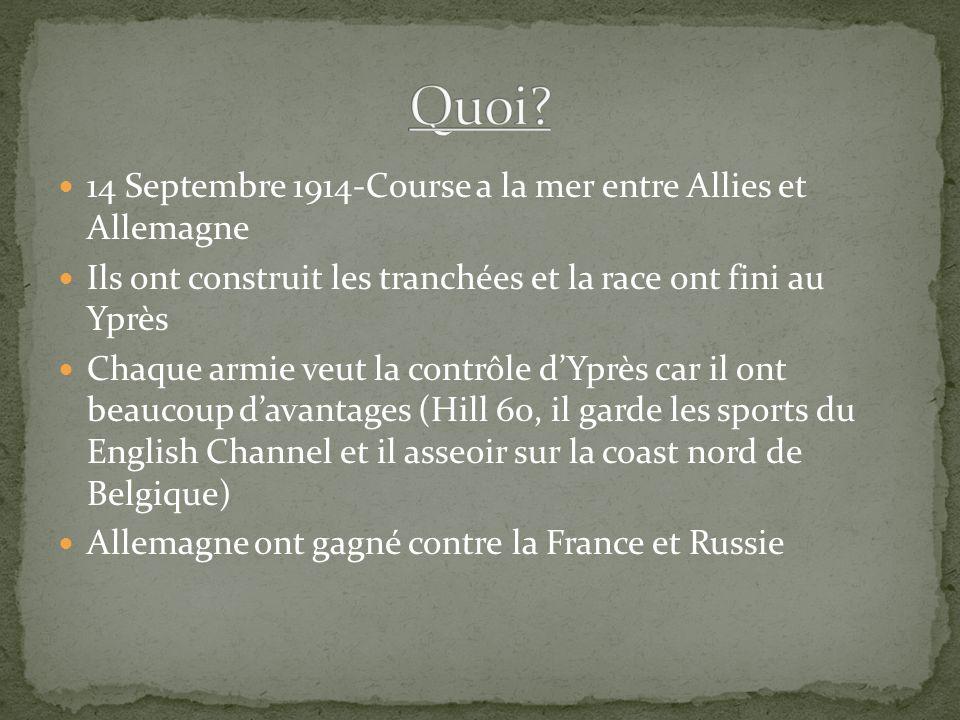Quoi 14 Septembre 1914-Course a la mer entre Allies et Allemagne