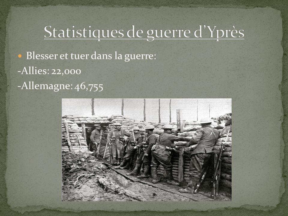 Statistiques de guerre d'Yprès