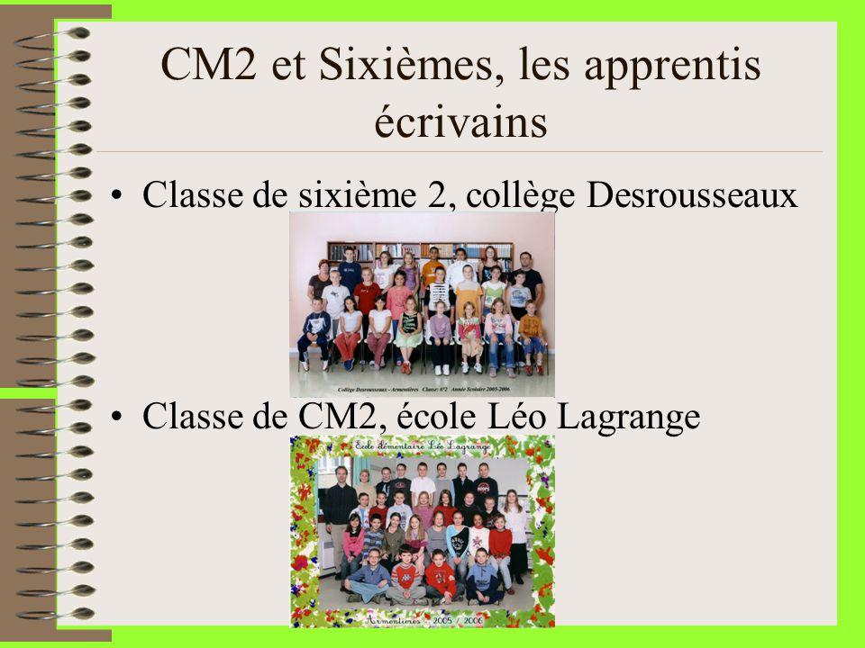 CM2 et Sixièmes, les apprentis écrivains