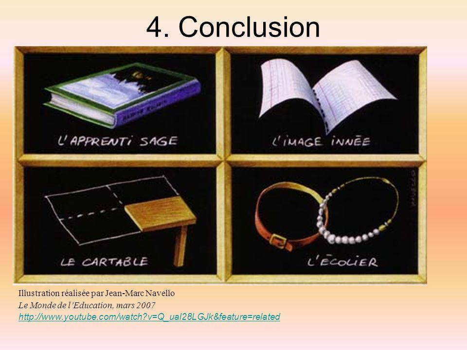 4. Conclusion Illustration réalisée par Jean-Marc Navello