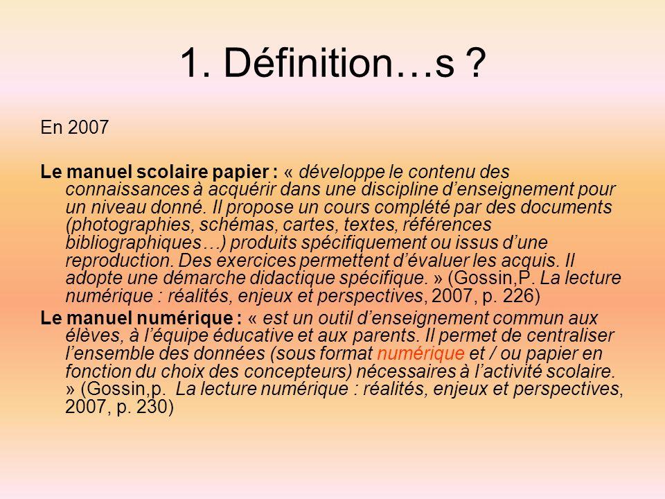 1. Définition…s En 2007.