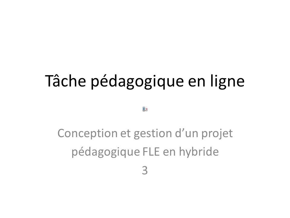 Tâche pédagogique en ligne