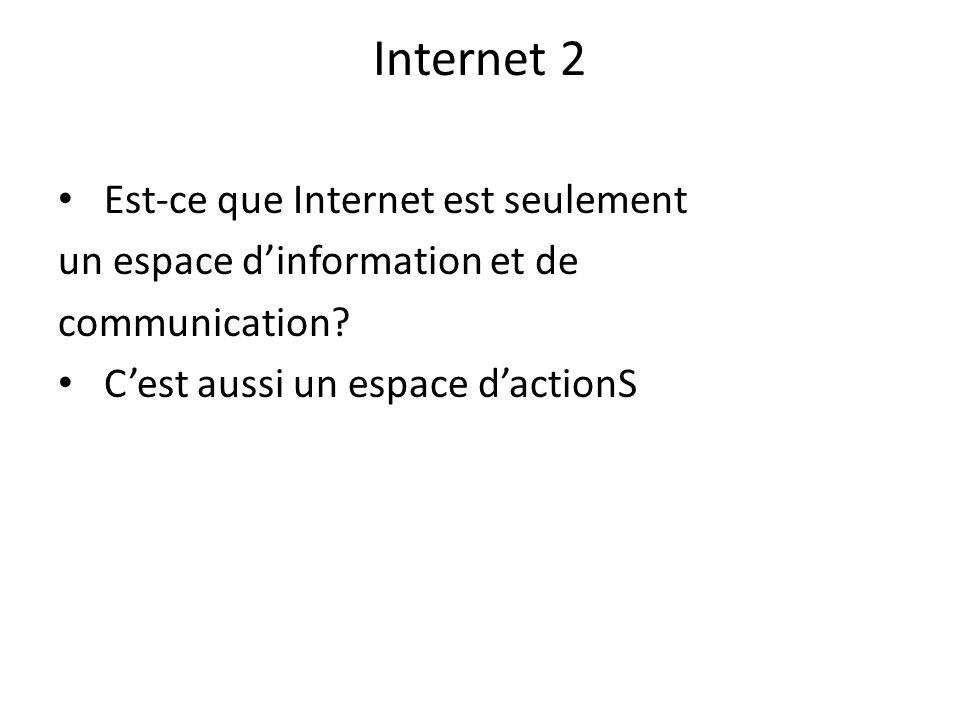 Internet 2 Est-ce que Internet est seulement
