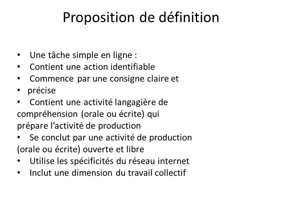 Proposition de définition