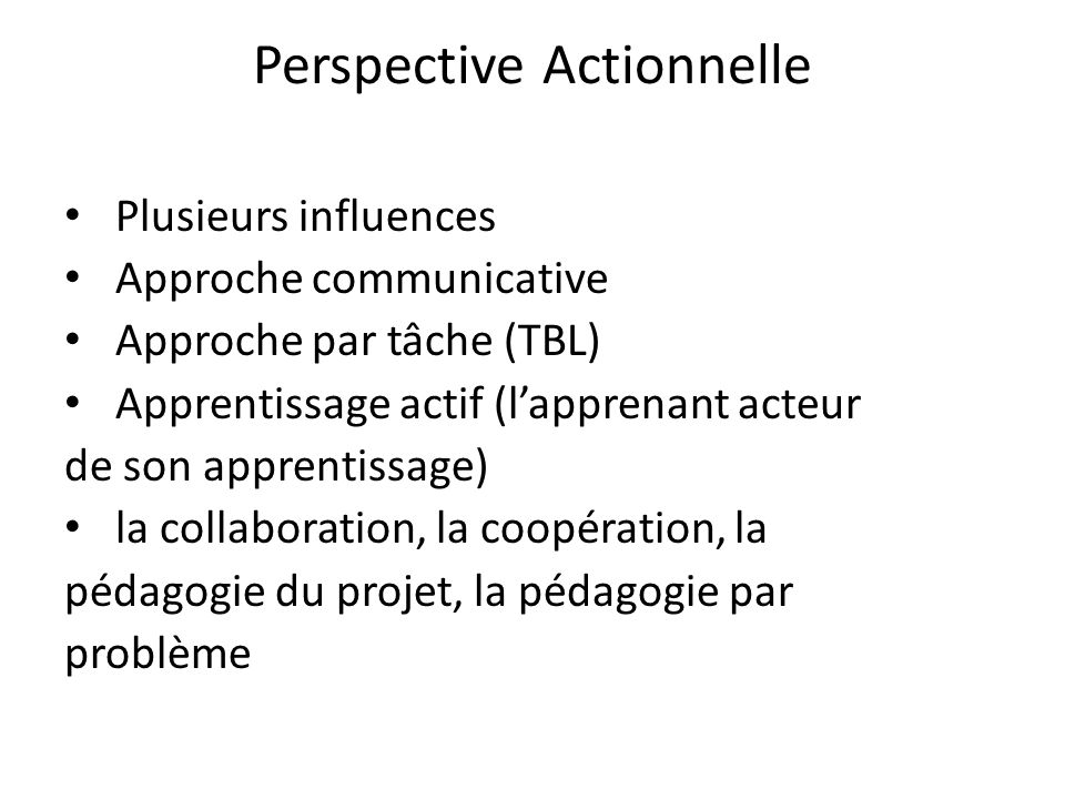 Perspective Actionnelle