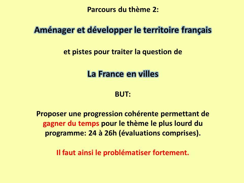 Aménager et développer le territoire français La France en villes