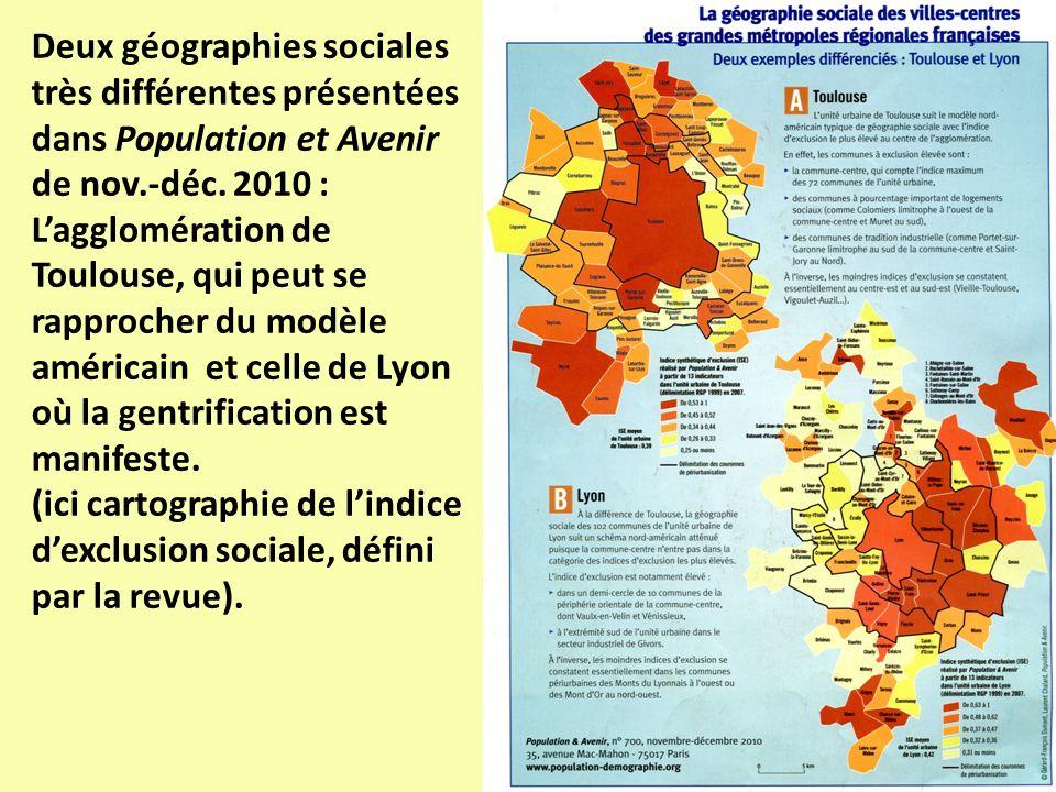 Deux géographies sociales très différentes présentées dans Population et Avenir de nov.-déc. 2010 :