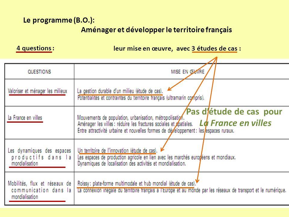 Pas d'étude de cas pour La France en villes