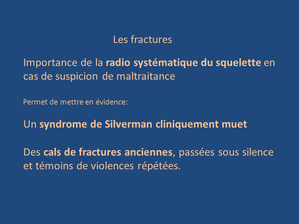 Un syndrome de Silverman cliniquement muet