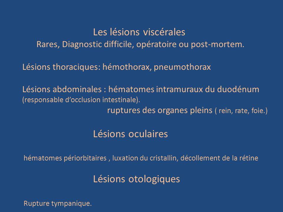 Les lésions viscérales