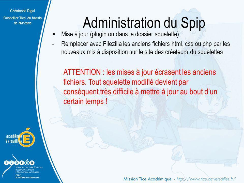Administration du Spip