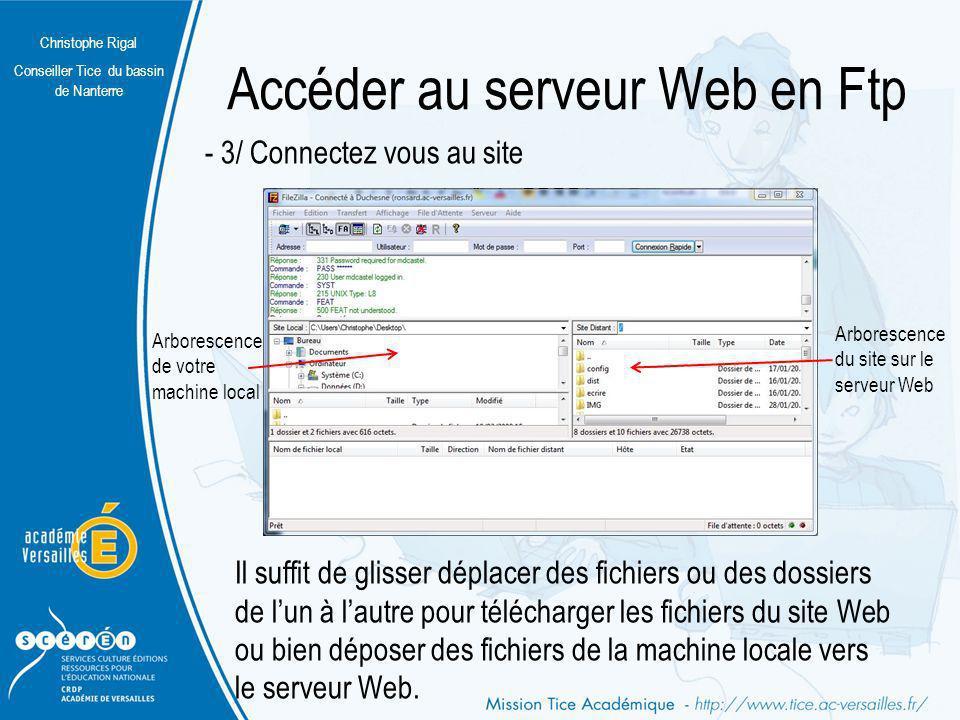 Accéder au serveur Web en Ftp