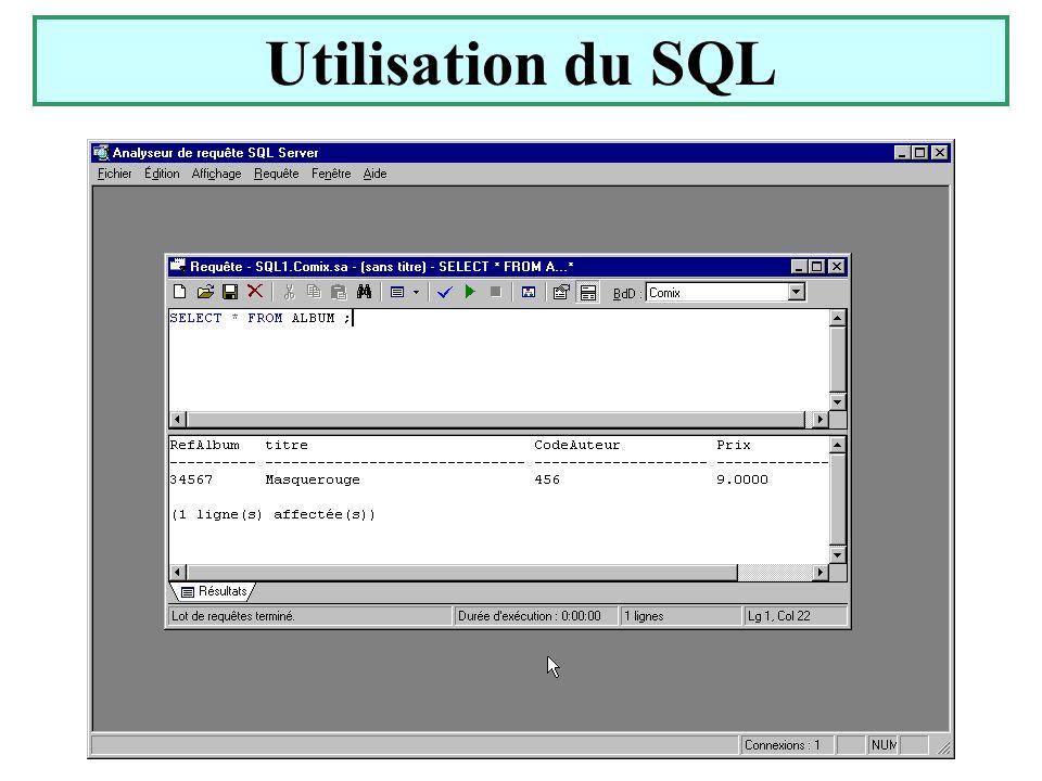Utilisation du SQL Yonel Grusson