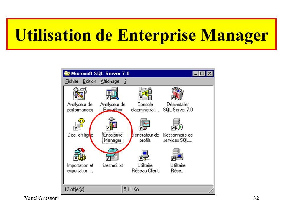 Utilisation de Enterprise Manager