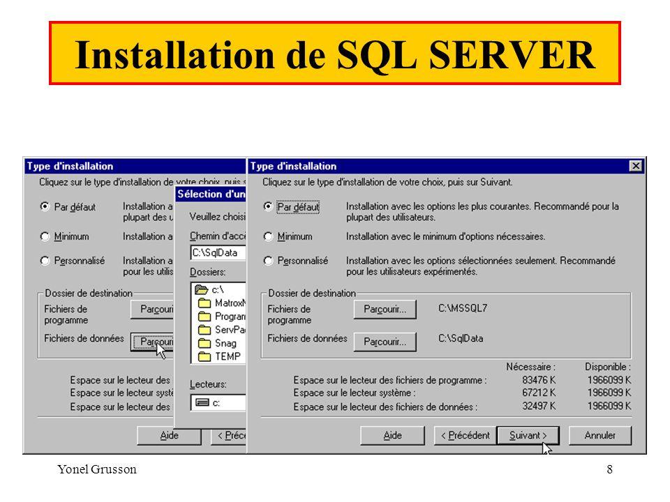 Installation de SQL SERVER
