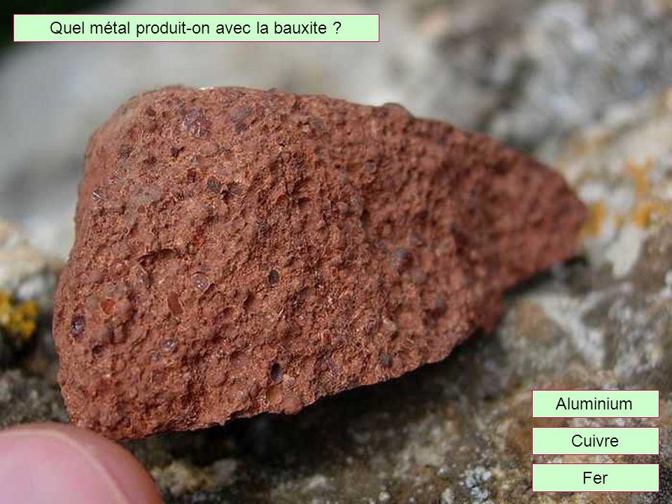 Quel métal produit-on avec la bauxite
