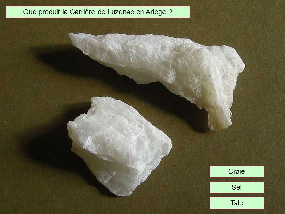 Que produit la Carrière de Luzenac en Ariège