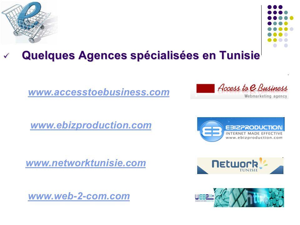 Quelques Agences spécialisées en Tunisie