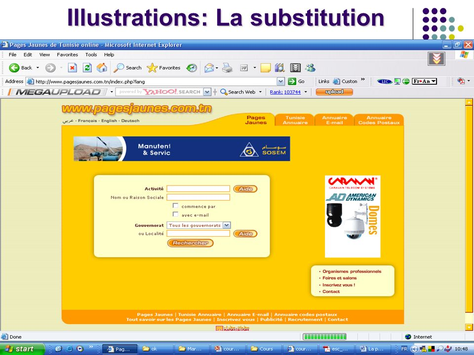 Illustrations: La substitution