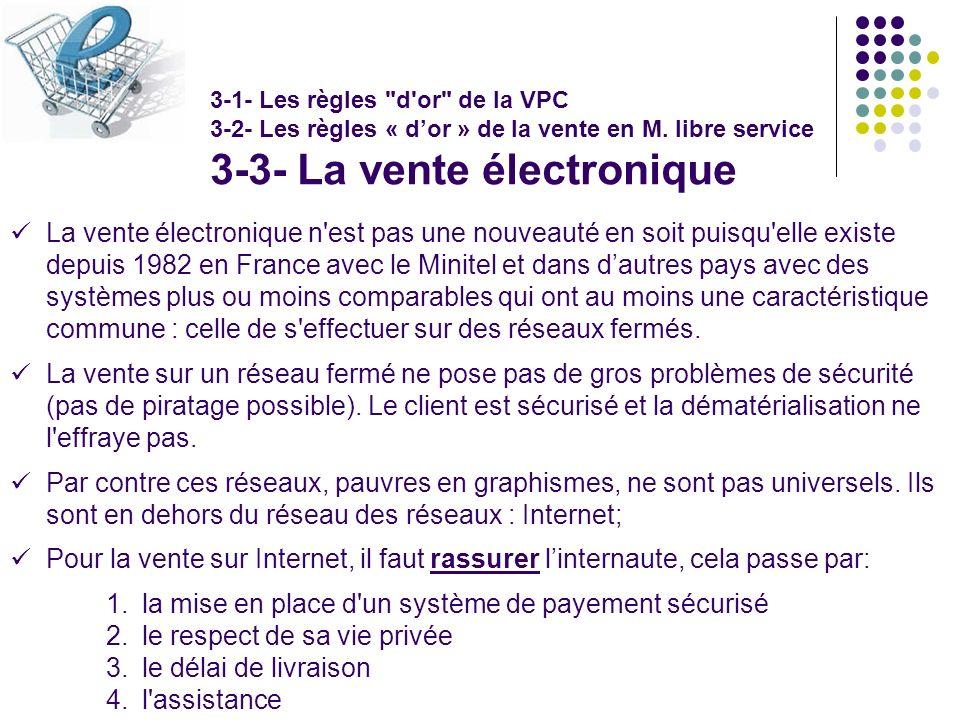 3-3- La vente électronique