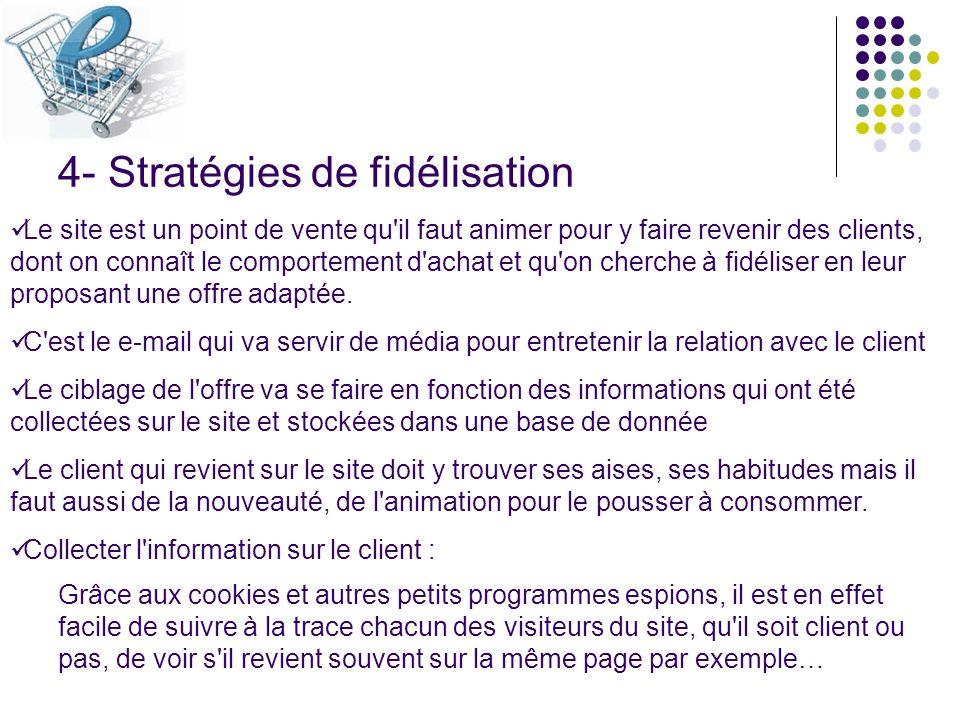 4- Stratégies de fidélisation