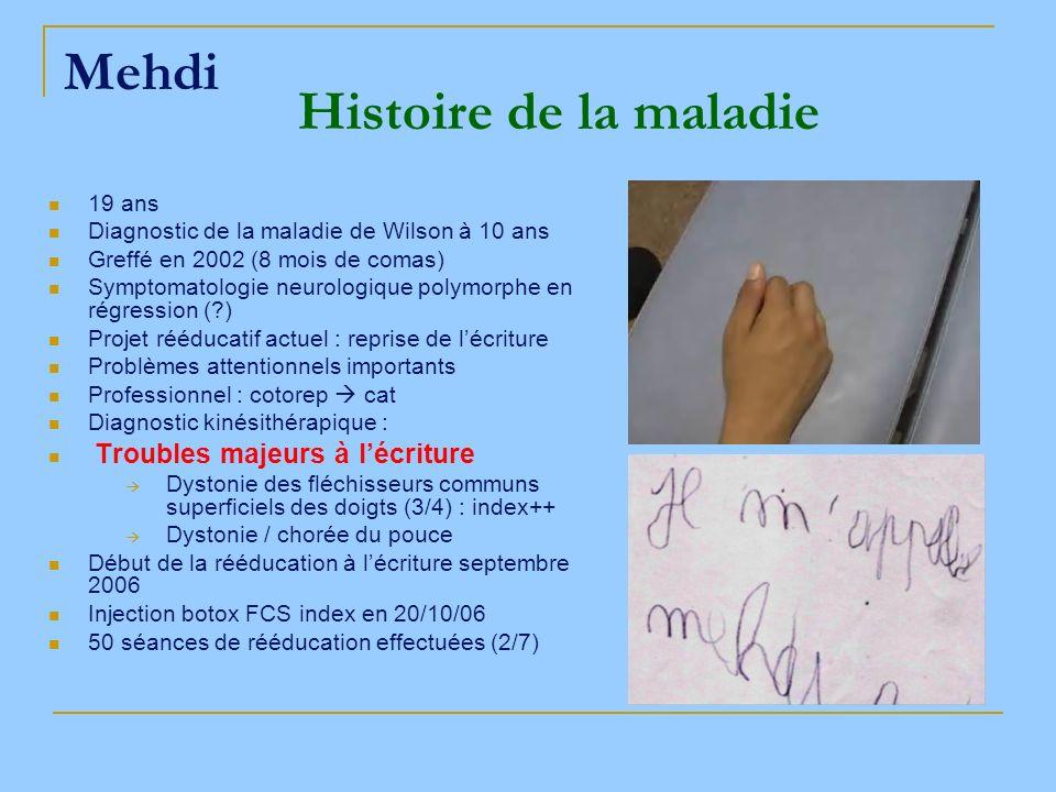 Mehdi Histoire de la maladie 19 ans